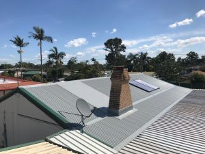 Under construction re-roofing